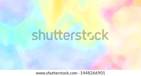 Watercolor painted background. Abstract Illustration wallpaper. Brush stroked painting. 2D Illustration. #1448266901