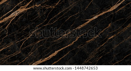 natural black emperador marble texture background with golden veins, exotic limestone ceramic tile slice mineral marbel stone pattern, modern onyx brown breccia rustic matt italian quartzite granite. #1448742653