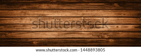 old brown rustic dark wooden texture - wood background panorama long banner #1448893805