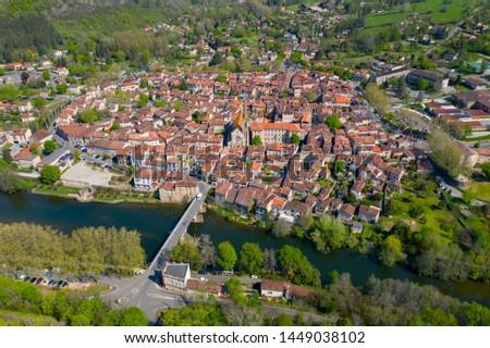 Beautiful medieval village Saint Antonin Noble Val in Occitania, France  #1449038102