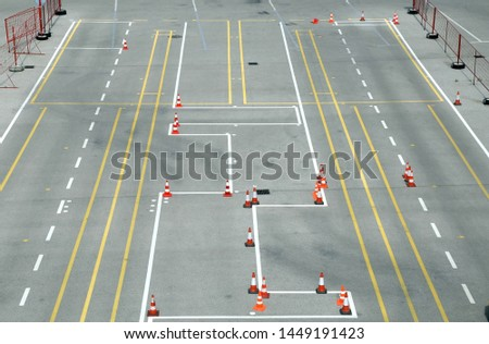 Driving polygon driving school and driving training area #1449191423