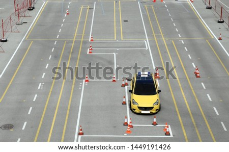 Driving polygon driving school and driving training area #1449191426