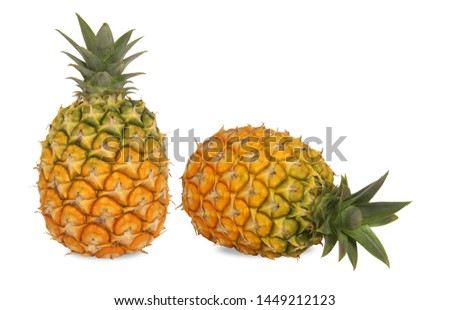 Pineapple,sweet and sour taste. Contains Bromelain, an enzymes that aids digest meat. Rich in vitamin C B & dietary fiber. Processed into Jam, Canned pineapple juice, Dried and crystallized pineapple. #1449212123