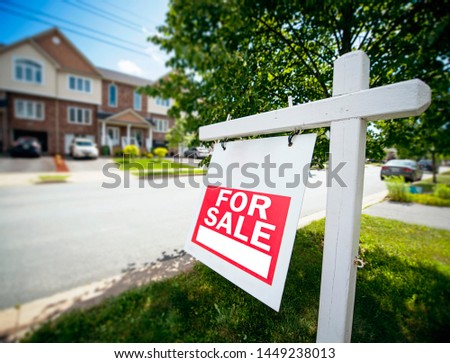 Urban House for Sale Sign