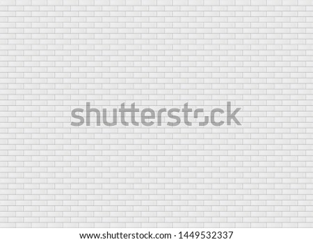 White blank rectangle ceramic tile wall texture background. #1449532337