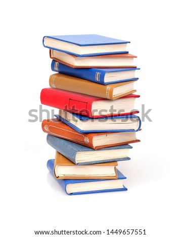 Stack of books isolated on white background	 Royalty-Free Stock Photo #1449657551