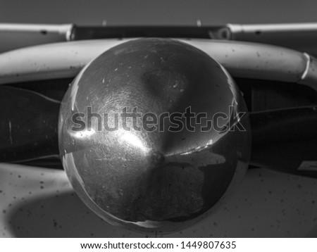Propeller nose in silver metal #1449807635