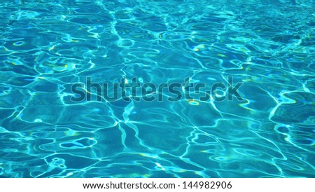 Blue Water in Pool #144982906