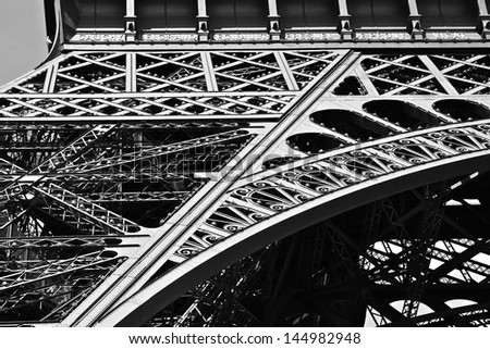 Eiffel Tower Close Up #144982948