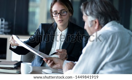 Business people discussion advisor concept Royalty-Free Stock Photo #1449841919