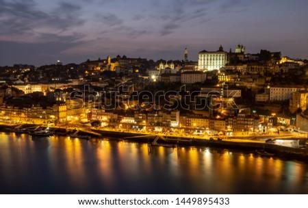 Night View of the River Douro in Porto #1449895433