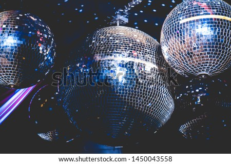 mirror balls in the disco Royalty-Free Stock Photo #1450043558