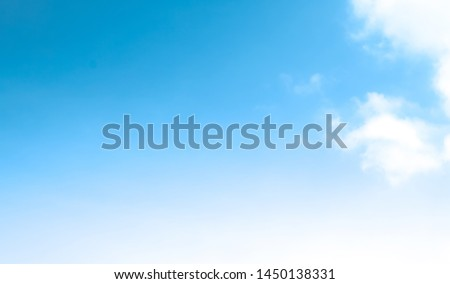 blue sky with beautiful natural white clouds #1450138331