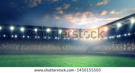 Full night football arena in lights #1450155503