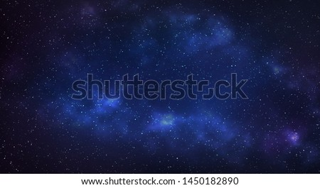 Milky way galaxy with stars and space background. Royalty-Free Stock Photo #1450182890