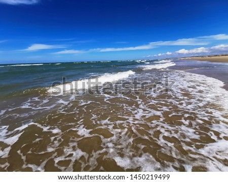 summer beach clouds atlantic ocean #1450219499