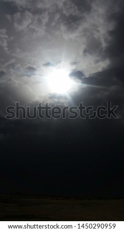 sun light with cloudy weather  #1450290959