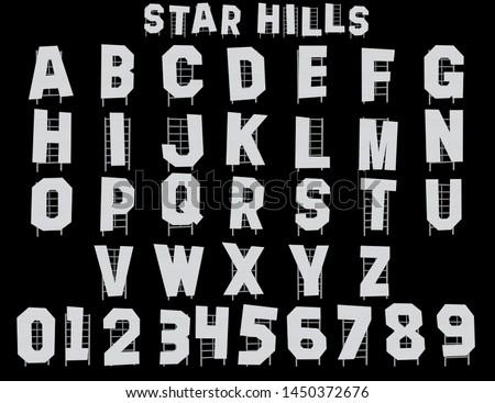 Star Hills Hollywood Alphabet - 3D Illustrator