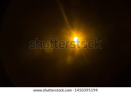Abstract Natural Sun flare on the black #1450395194