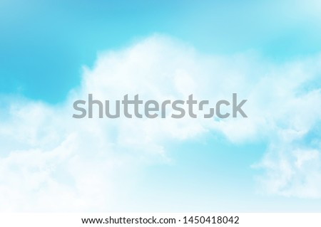 blue sky with white cloud #1450418042