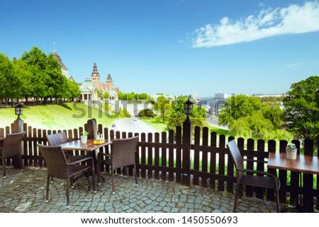 Szczecin, View on Chrobry embankment the Odra River and boulevards Royalty-Free Stock Photo #1450550693