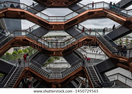 New York, USA - June 21, 2019:  The Vessel at Hudson Yards located on Manhattan's West side - Image #1450729565
