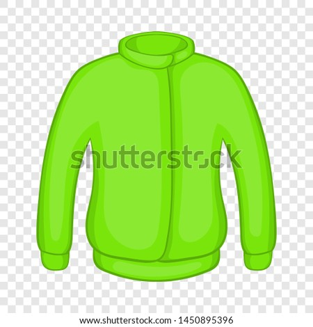 Green paintball jacket icon in cartoon style on a background for any web design #1450895396