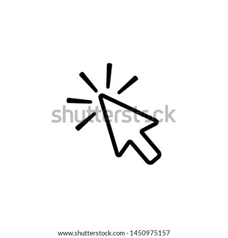 Click contour arrow,  icon to click vector icon #1450975157