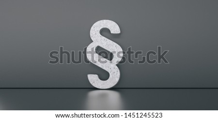 Symbol of Law and Justice - Paragraph / section sign on gray dark background