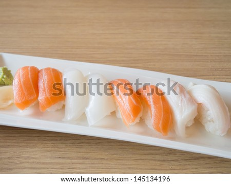 sushi on the plate #145134196