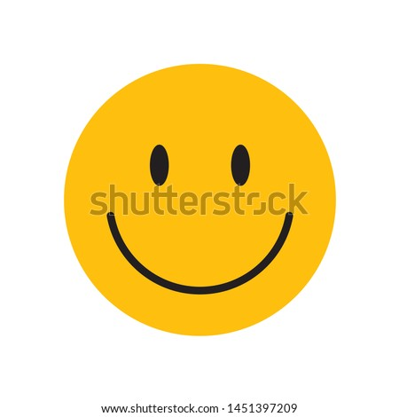 Yellow happy face with smile. Royalty-Free Stock Photo #1451397209