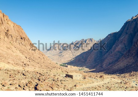 Monastery of St. Catherine in the mountains of Egypt in the Sinai Peninsula. #1451411744