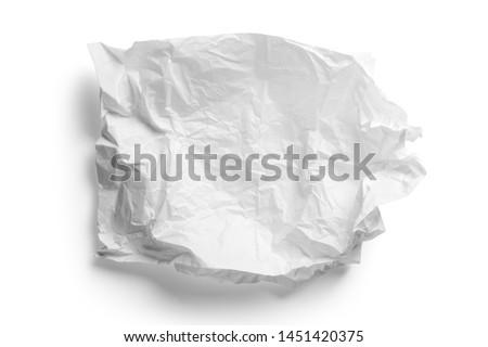Crumpled white paper napkin - unused Royalty-Free Stock Photo #1451420375
