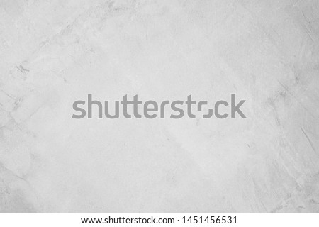 White concreted wall for interiors or outdoor exposed surface polished concrete. Cement have sand and stone of tone vintage, natural patterns old antique, design art work floor texture background. #1451456531
