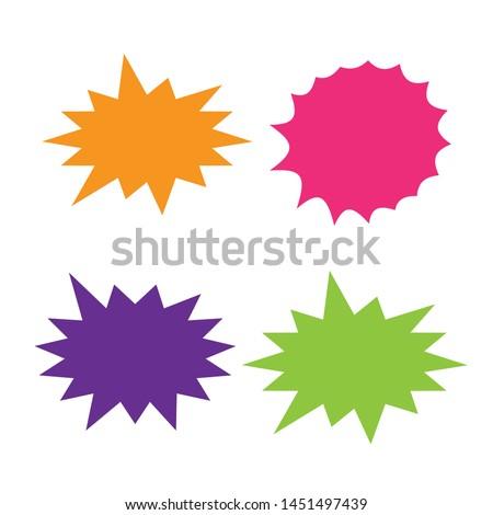 Set of vector starburst, sunburst badges. Starburst isolated icons set #1451497439