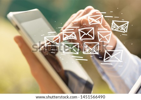 Concept of sending e-mails from your computer #1451566490