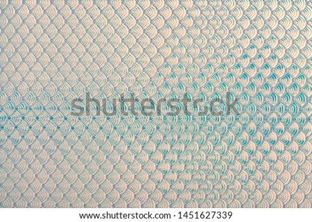 Holographic mermaid fish scales iridescent faux leather texture background. #1451627339