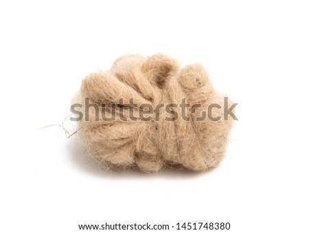 sheep wool isolated on white background #1451748380