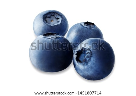 Blueberry on a white isolated background. toning. selective focus #1451807714