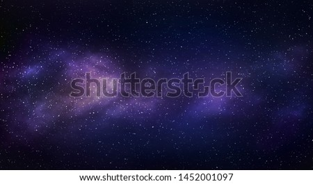 Milky way galaxy with stars and space background. #1452001097