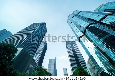 Modern office building in a big city Royalty-Free Stock Photo #1452017165