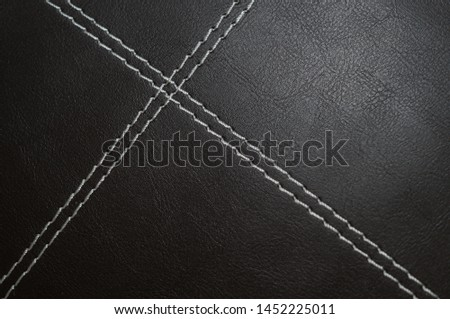 Deep Brown Leather with White Suture 2 #1452225011