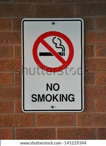 No smoking sign