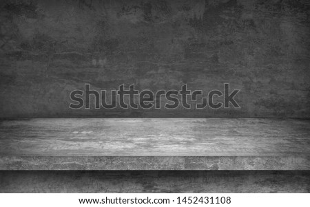 perspective cement floor or concrete shelf table, isolated on a white backgrounds for interior display products and web page . studio room gradient background #1452431108