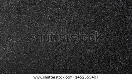 Surface grunge rough of asphalt, Seamless tarmac dark grey grainy road, Texture Background, Top view #1452555407