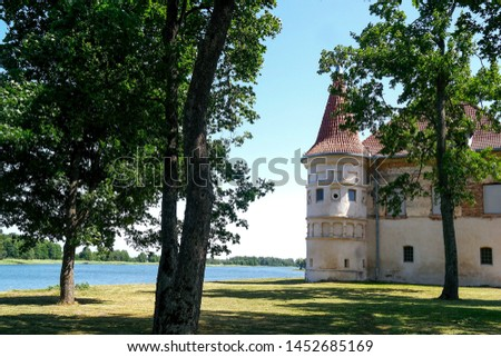 Lithuania. Siesikai castle under construction.Historic palace in the Neoclassica. #1452685169