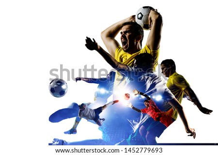 Abstract soccer theme - hottest match moments #1452779693