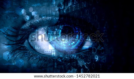 Abstract high tech eye concept Royalty-Free Stock Photo #1452782021