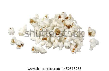 Popcorn isolated on whitw background. #1452815786