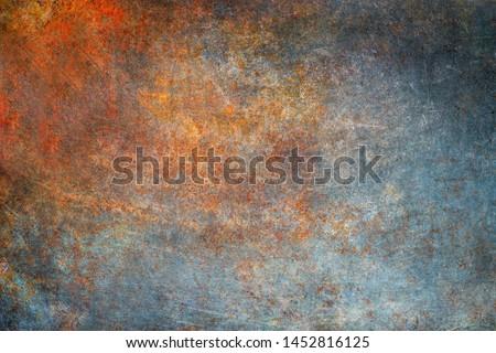 Rusty metal texture, vintage steel plate Royalty-Free Stock Photo #1452816125